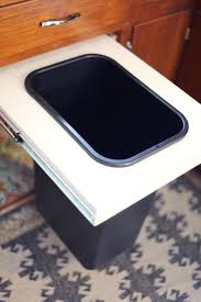Kitchen Cabinet Garbage Drawer Convert A Cabinet Into A Pull Out Trash Bin A Beautiful Mess