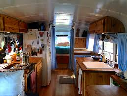 a small simple bedroom inside a converted school bus motorhome3 bedroom converted home