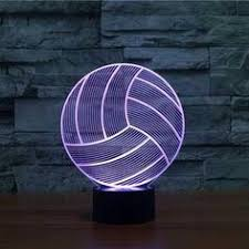<b>Volleyball 3D Optical LED Illusion</b> Lamp - Lampeez