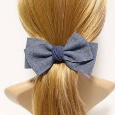 Simple <b>chiffon</b> bow ponytail holder basic <b>style</b> hair <b>bow tie</b> elastics
