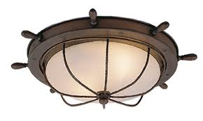 "Orleans 15"" Outdoor Ceiling Light <b>Antique Red Copper</b> - Vaxcel"