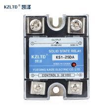 <b>SSR</b> 25DA <b>DC AC</b> 25A Solid State Relays <b>220V AC</b> Output 3 32V ...