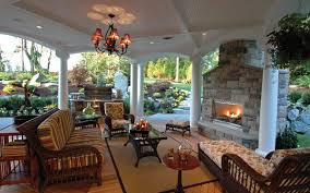 Outdoor Living Trends   House Plans and Morestunning covered outdoor living area   fireplace  View This House Plan