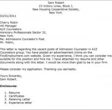 Cover Letter For Admissions Counselor   Best Letter Example
