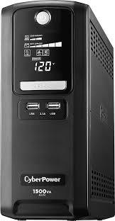 <b>CyberPower</b> 1500VA <b>Battery</b> Back-Up System Black LX1500GU ...