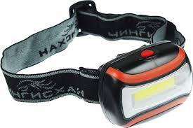 <b>Налобный фонарь</b> Чингисхан, 3 Вт COB LED, 198-055, черный