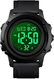 Men's Digital Sports Watch Large Face Waterproof ... - Amazon.com