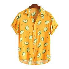 <b>Men</b> 2020 <b>Men</b> Fashion Hawaiian Blouse T-shirt Tee <b>Avocado</b> ...