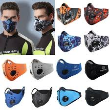 17 Styles <b>Activated Carbon Dust-Proof Cycling</b> Face Mask Anti ...