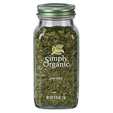 Simply Organic Parsley Flakes, <b>Cut</b> & Sifted, <b>Certified Organic</b> | 0.26 ...