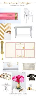 luxe white and gold chic home office chic home office white