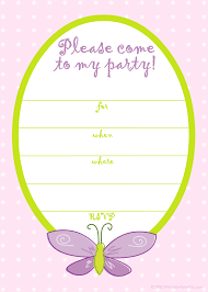 birthday invitations templates for girls invitation sample printable party · birthday invitations templates for girls