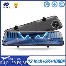 E ACE A38 Car Dvr Stream RearView Mirror Dash Cam <b>12 Inch 2K</b>+ ...