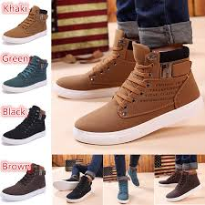 【Size 39~47】<b>Men</b> Spring <b>Autumn Casual High</b> Top Canvas ...