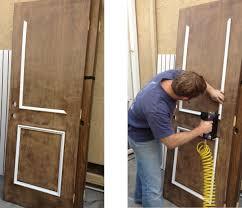 shaker molding added plain doors style