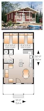 Cabin House Plan   Narrow Lot House Plans  House plans and    Floating House