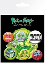 <b>Набор значков Rick</b> And Morty: Quotes - купить по цене 298 руб в ...