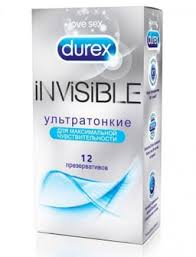 <b>Презервативы Durex Invisible</b>, <b>презерватив</b>, ультратонкие, <b>12 шт</b> ...