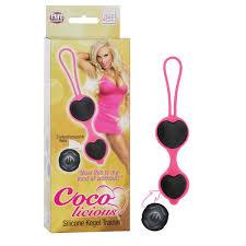 Чёрные <b>вагинальные шарики</b> из силикона <b>Coco Licious</b> Kegel Balls
