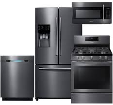 black and stainless kitchen samsung appliance rfbeaesgpckit black stainless steel series