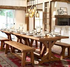 pottery barn style dining table: dining room vine pottery barn style table decor design