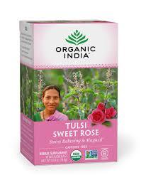 Organic <b>Tulsi Sweet Rose Tea</b> | Organic India – organicindiausa
