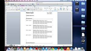 how to write a easy resume in word by mac how to write a easy resume in word by mac
