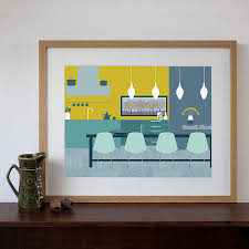 Dining Room Artwork My Dining Room By Wassily Kandinsky By Wassily Kandinsky Canvas