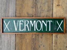 cabin decor lodge sled: wood sign outdoor sign vermont ski sign state sign lake and lodge decor winter ski decor christmas gift winter holiday wall decor