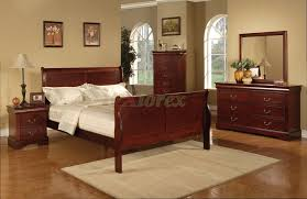 awesome semi gloss sleigh like bedroom furniture set 170 in cherry black white also cherry bedroom bedroom furniture project
