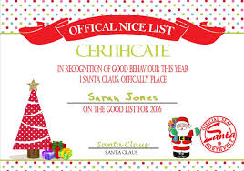 personalised santa s nice list certificate design  personalised santa s nice list certificate design 5