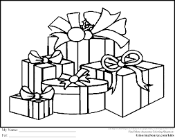 christmas christmas presents coloring pages christmas presents coloring pages template to color full size