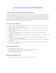 resume in usa sample sample customer service resume resume in usa sample resume templates related post of description of customer service duties for resume