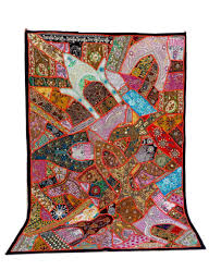 Small Picture Antique Banjara Patchwork Tapestry Indian Gujarati home decor wall