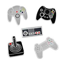 game machine brooch retro over console school arcade enamel pin shirt backpack badge boy girl play gifts