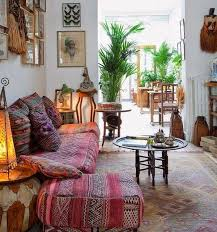 bohemian living room anthropologie style furniture