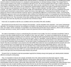 this is a good example essay on american dream free essay on the american dream dead or alive
