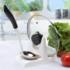 <b>1Pcs</b> Kitchen Accessories <b>Spoon Pot</b> Lid <b>Shelf</b> Cooking Storage ...
