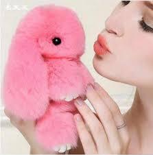 High Quality <b>15cm</b> Play Dead <b>Rabbit Fur Rabbit Bunny Keychain fur</b> ...