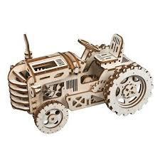 <b>1X</b>(Robotime <b>Creative</b> DIY Gear Drive Tractor 3D Wooden Model ...