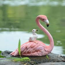 <b>Creative Resin Flamingo</b> Simulated animal Decorative ornaments ...
