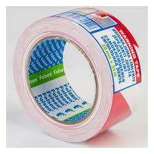 <b>Клейкая</b> сигнальная <b>лента Folsen</b> 50мм x 33м, красно-белая, PVC ...