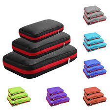 Double Layer <b>Compression Packing Cubes</b> Travel <b>Luggage</b> ...
