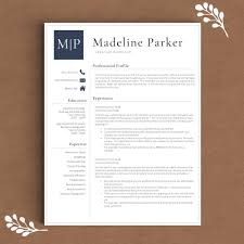 modern resume template the samantha rose professional resume template the madeline