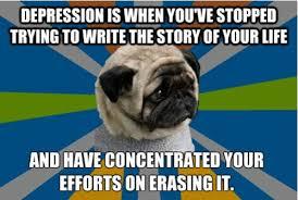 Clinically Depressed Pug via Relatably.com