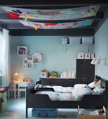 delightful black and blue colored twin bedroom from ikea black bedroom furniture for kids black blue bedroom