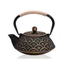 JUEQI Japanese Cast Iron Teapot Kettle with ... - Amazon.com
