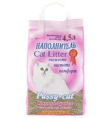 Наполнитель <b>Pussy</b>-<b>cat комкующийся</b> 4,5л