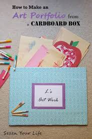 how to make an art portfolio from a cardboard box sezen art portfolio from box
