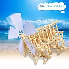 <b>Wind Powered</b> Walking Walker <b>Mini</b> Strandbeest DIY Assembly ...